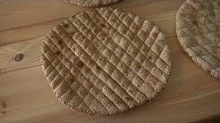 Perinneleivontaa Isäntä Matin museossa: ohrarieska