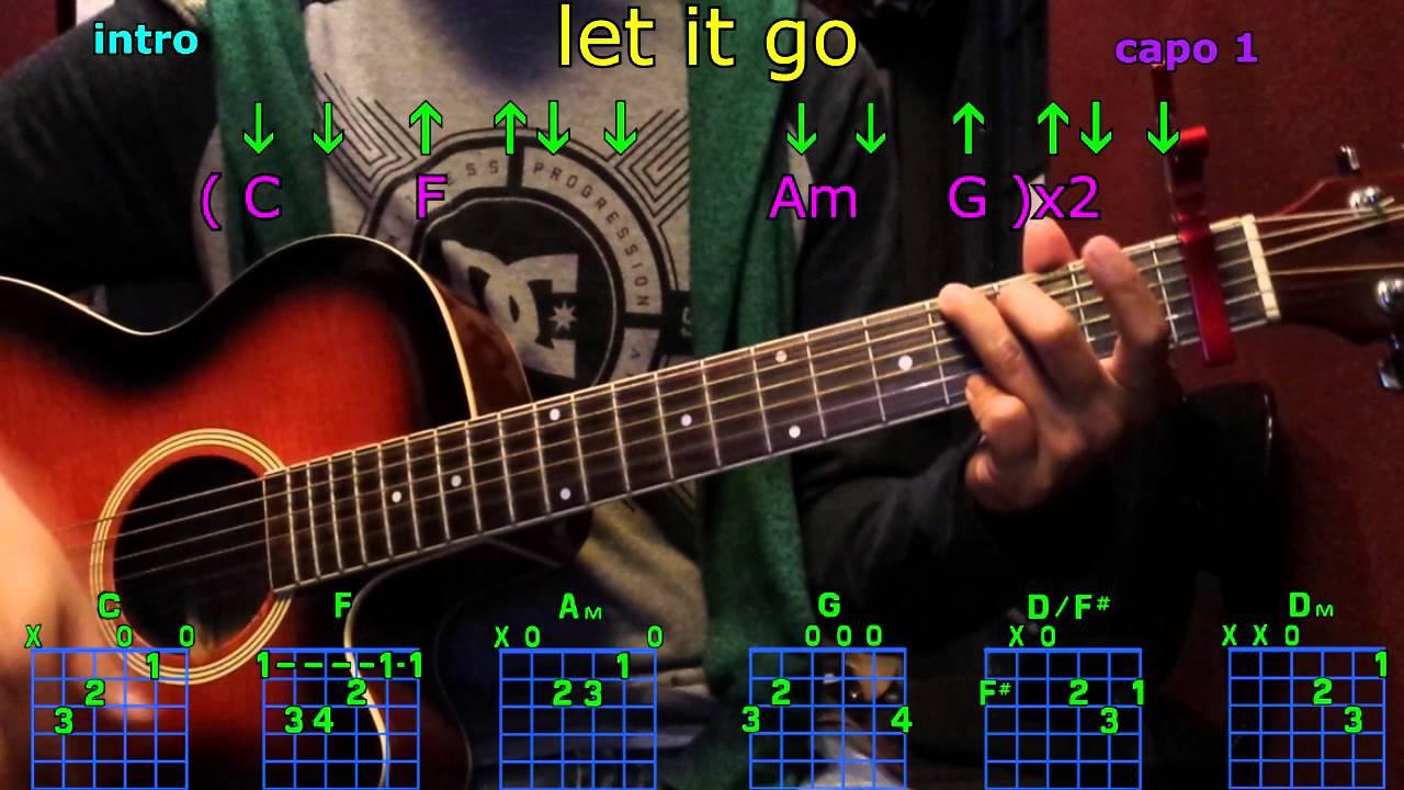 Let It Go James Bay Guitar Chords Youtube