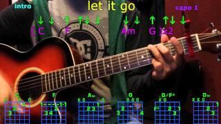 let it go james bay guitar chords