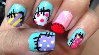 Cute Patchwork Nails