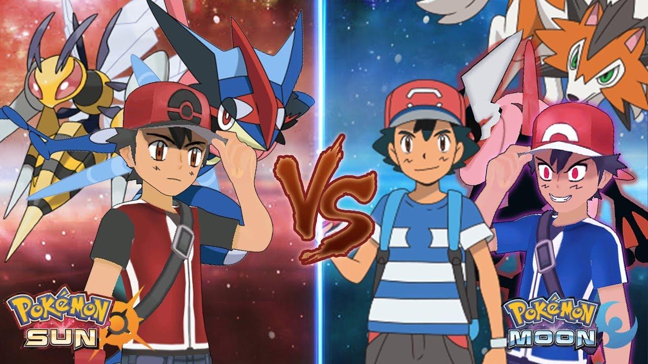 75c194f9dcf6 Pokemon Sun and Moon Champion Ash Vs Dark Ash and Ash - YouTube