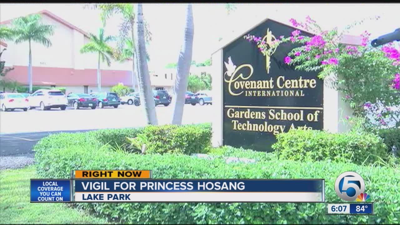 Vigil for Princess Hosang held in Lake Park - YouTube