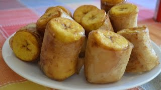How to Make Banana Fritters or Banana Spring Rolls Filipino Style