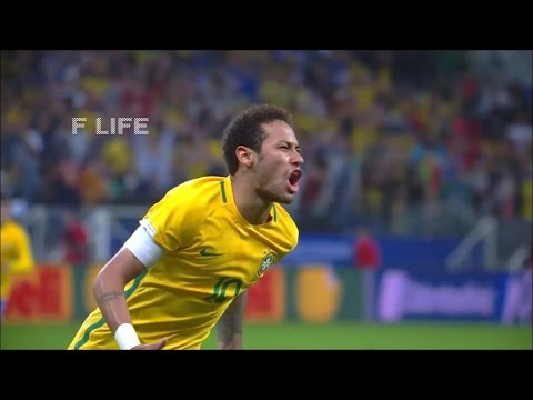 ネイマール 60mドリブル弾 ブラジル代表 (ロシアW杯南米予選)
