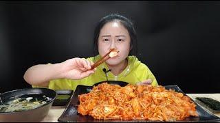이 알 좀 봐요,, 미쳤어♥ 배달 맛집 인생아구찜에서 시킨 영양만점 알찜(주문 폭주 및 재주문율 1위) 제일 매운맛 먹방 spicy steamed fish roe mukbang