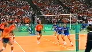 1996 olympics atlanta volleyball semi final the netherlands vs russia