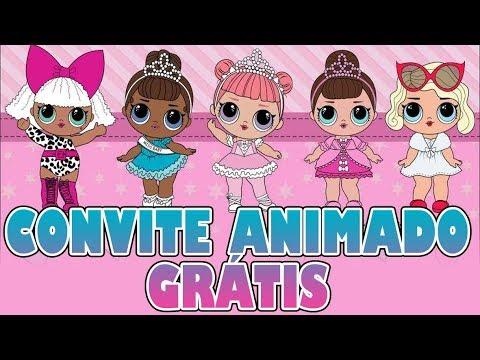 Convite Animado Lol Surprise Grátis