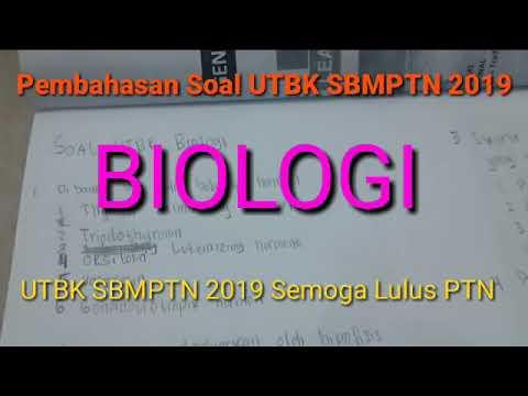 Soal Biologi UTBK SBMPTN 2019