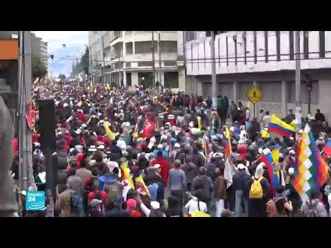 الآلاف يتظاهرون في كيتو عاصمة الإكوادور وسط انتشار القوات الأمنية  - 14:55-2019 / 10 / 10