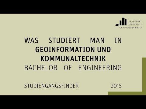 """Was studiert man in """"Geoinformation und Kommunaltechnik (B. Eng.)"""" an der FRA-UAS?"""