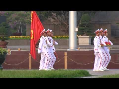 Vietnam: Ho Shi Minh Memorial Flag Ceremony