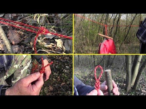 NODI scout bushcraft: doppie asole scorsoie e fisse, per traino, per appendere, per tiranti