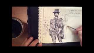 Drawing Clint Eastwood in the good the bad and the ugly Movie by pallominy MD USA feb