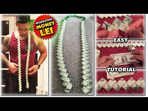 #1 2019 HOW TO MAKE A MONEY LEI | NEW FLAT CHAIN STYLE | TUTORIAL | GRADUATION CORD | 1080p60