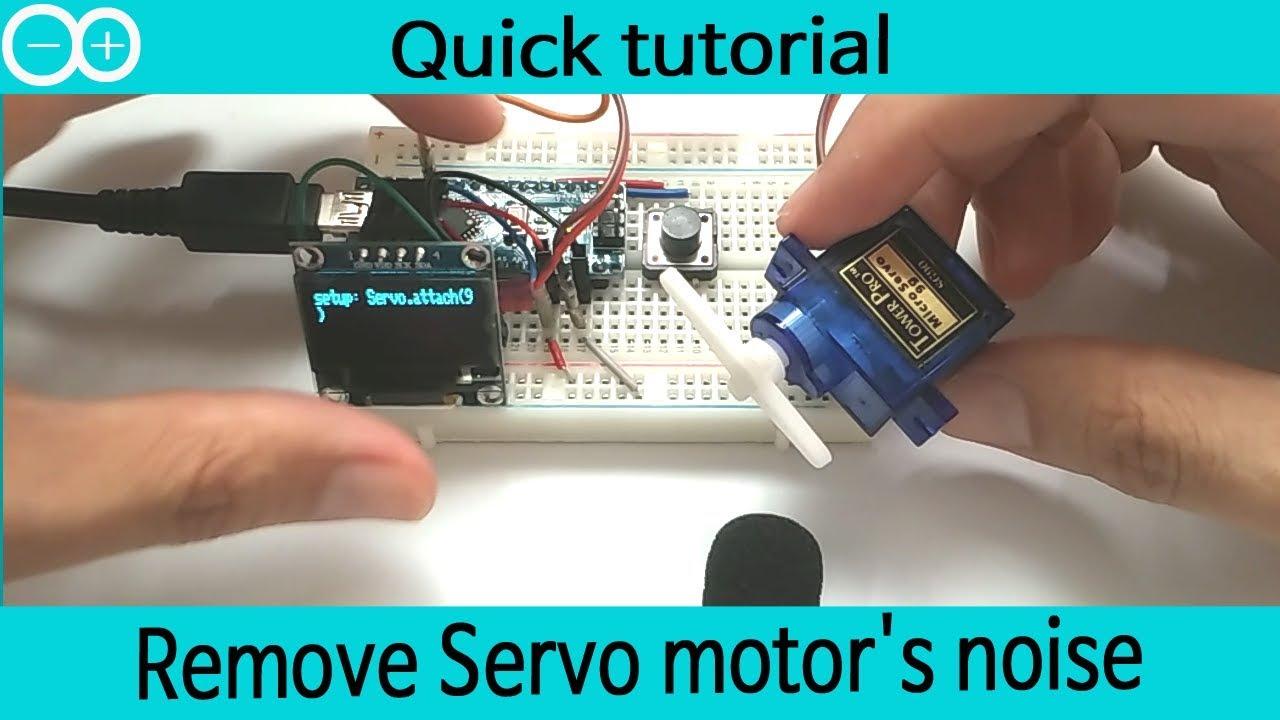 Remove Servo motor's noise, buzzing, shaking, humming   mg90, mg90s