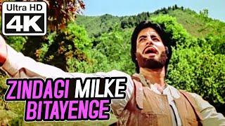 Zindagi Milke Bitayenge - 4K Video | Amitabh Bachchan | Satte Pe Satta | Kishore Kumar | R.D. Burman