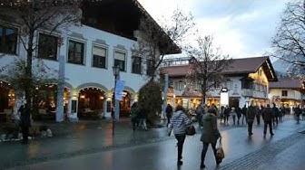 D: Garmisch-Partenkirchen. Bavaria. Sights and Sounds from the City Centre. December 2016