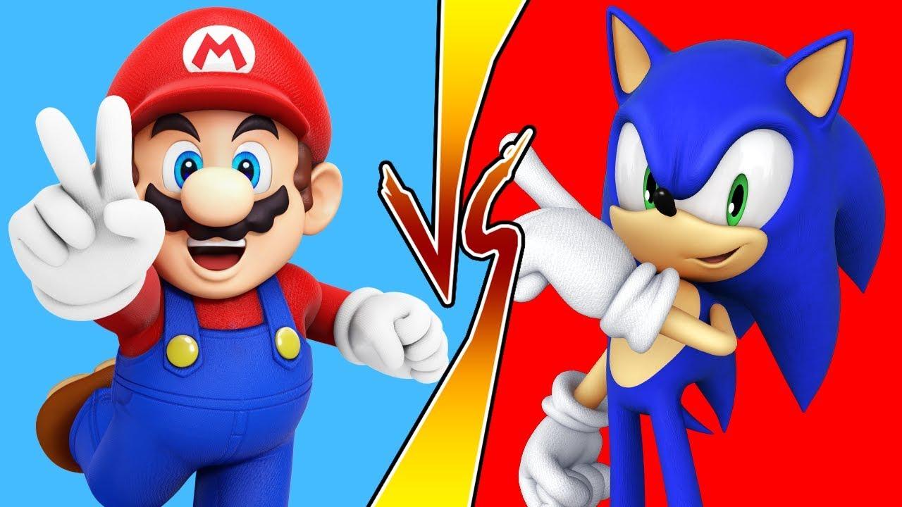 Mario vs sonic games wii