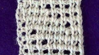 Тунисское вязание. Узоры на сетке с воздушными петлями(Тунисское вязание. Узоры на сетке с воздушными петлями Сетка с воздушными петлями - https://www.youtube.com/watch?v=aJxULp9CC4s..., 2014-07-06T16:55:24.000Z)