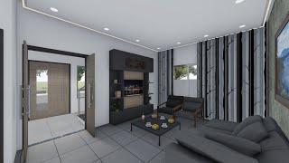modern animation interior