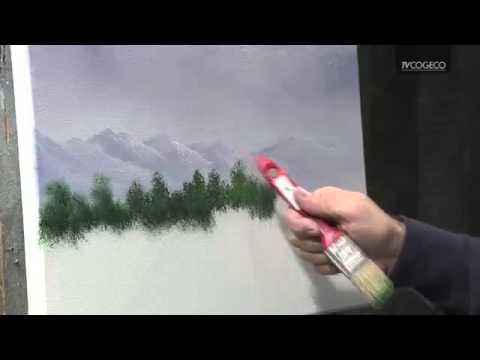 Technique de peinture d 39 arbres youtube - Toile intisse a peindre ...