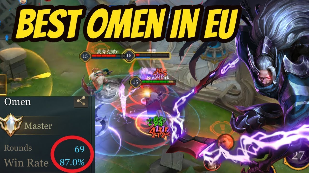 Video HOW TO STOMP WITH OMEN VS FULL TOP 10 TEAM (Rank 1 EU) | Arena of Valor Omen Gameplay