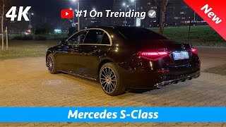 Mercedes S-Class 2021 AMG Line - Night review in 4K  Exterior - Interior, Crazy NEW Ambient lights