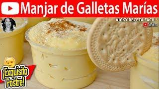 MANJAR DE GALLETAS MARIAS | Vicky Receta Facil