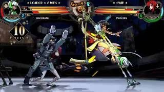 skullgirls gameplay 129 part2 fortunebeoparaso vs parasoeliza
