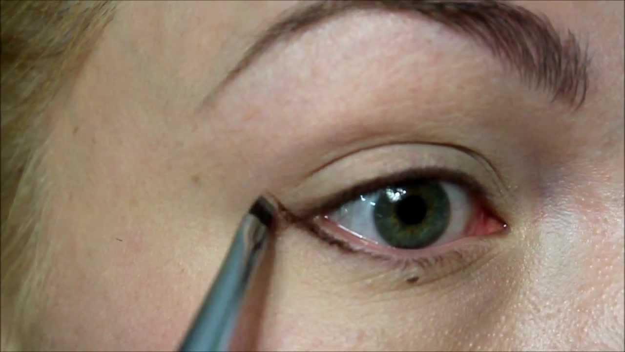 классическая схема макияжа глаз