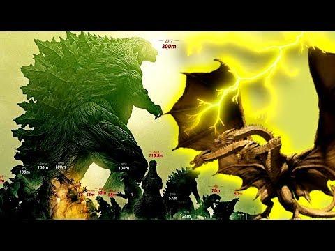 How Big is Legendary Ghidorah? / Titanus Ghidorah Monsterverse Size Comparison |
