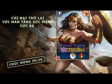 Liên Quân Mobile | Chị đại Wonder Woman được tăng sức mạnh cực bá đạo trong mùa 16 - by Titan Gaming