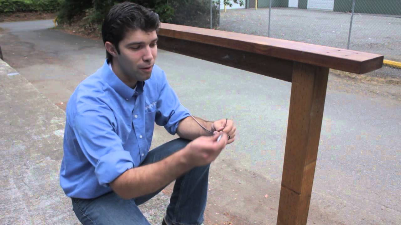 Cable Railing With Wood Posts DIY   YouTube