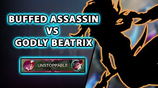 This assassin got buffed but we were facing a godly Beatrix   Mobile Legends