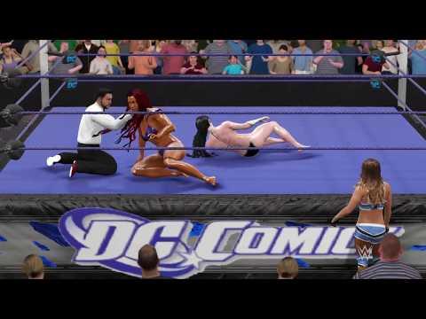 WWE 2K17 Donna Troy (Bikini) vs. Starfire (Bikini) - Ironman Match
