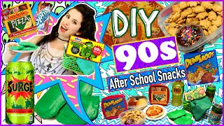 Back To School: DIY 90s After School Snacks! | DIY Dunkaroos, Surge, Lunchables & More!