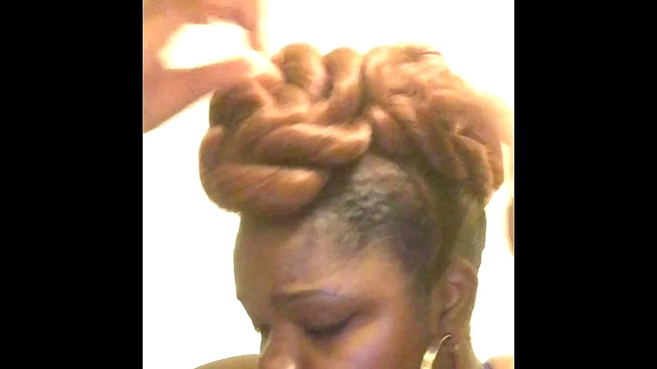 Creative Buns For Natural Hair