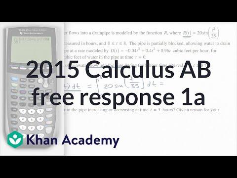 2015 AP Calculus AB/BC 1ab