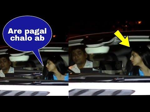 OMG ! SRK daughter Suhana Khan got angry at her driver at Ananya Pandey Birthday Bash