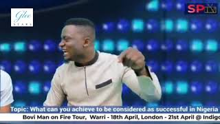 What can you achieve to be considered as successful in Nigeria - Madiba of Comedy