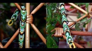 Видео урок №12) как плести фенечки? фенечка с бусинами (подобие фенечки