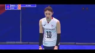 2018 여자배구 네이션스리그 한국 vs 러시아 하이라이트