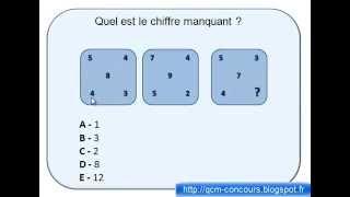 Test de QI matrice nombre corrigé 1