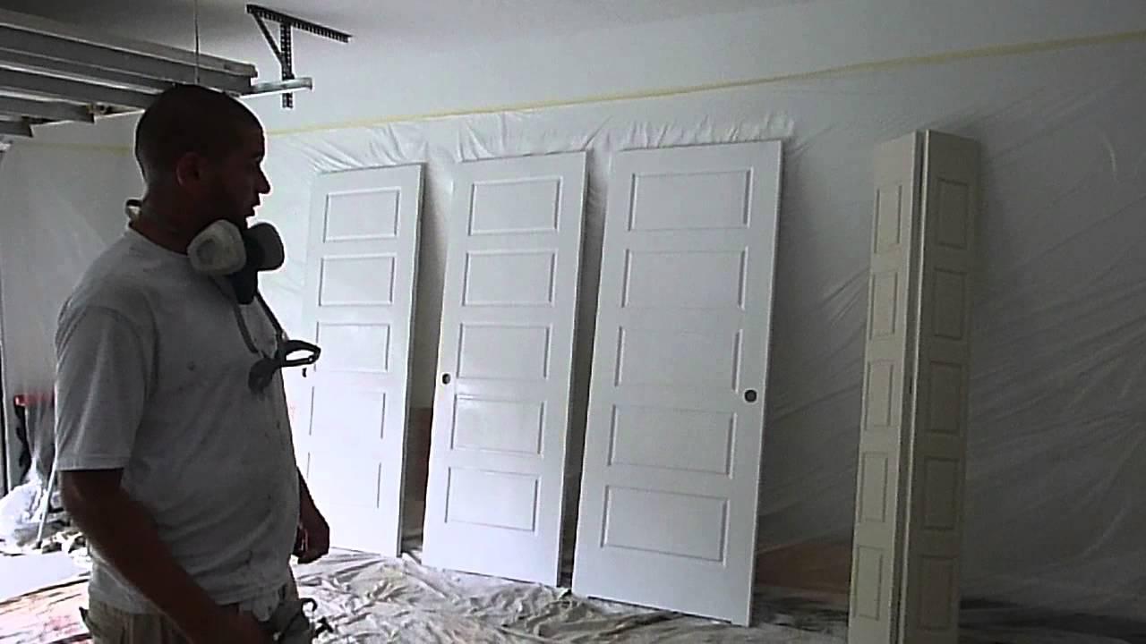 How To Paint Closet Doors Using Graco Ultra 395 Sprayer Treasure Coast Florida You