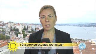 Svart bil spår i sökande efter försvunnen journalist - Nyhetsmorgon (TV4)