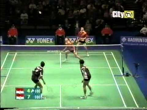 badminton best men s doubles match ever 1 3   youtube