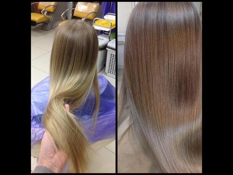 Окрашивание длинных волос: натуральный русый // Long hair coloring: natural blond