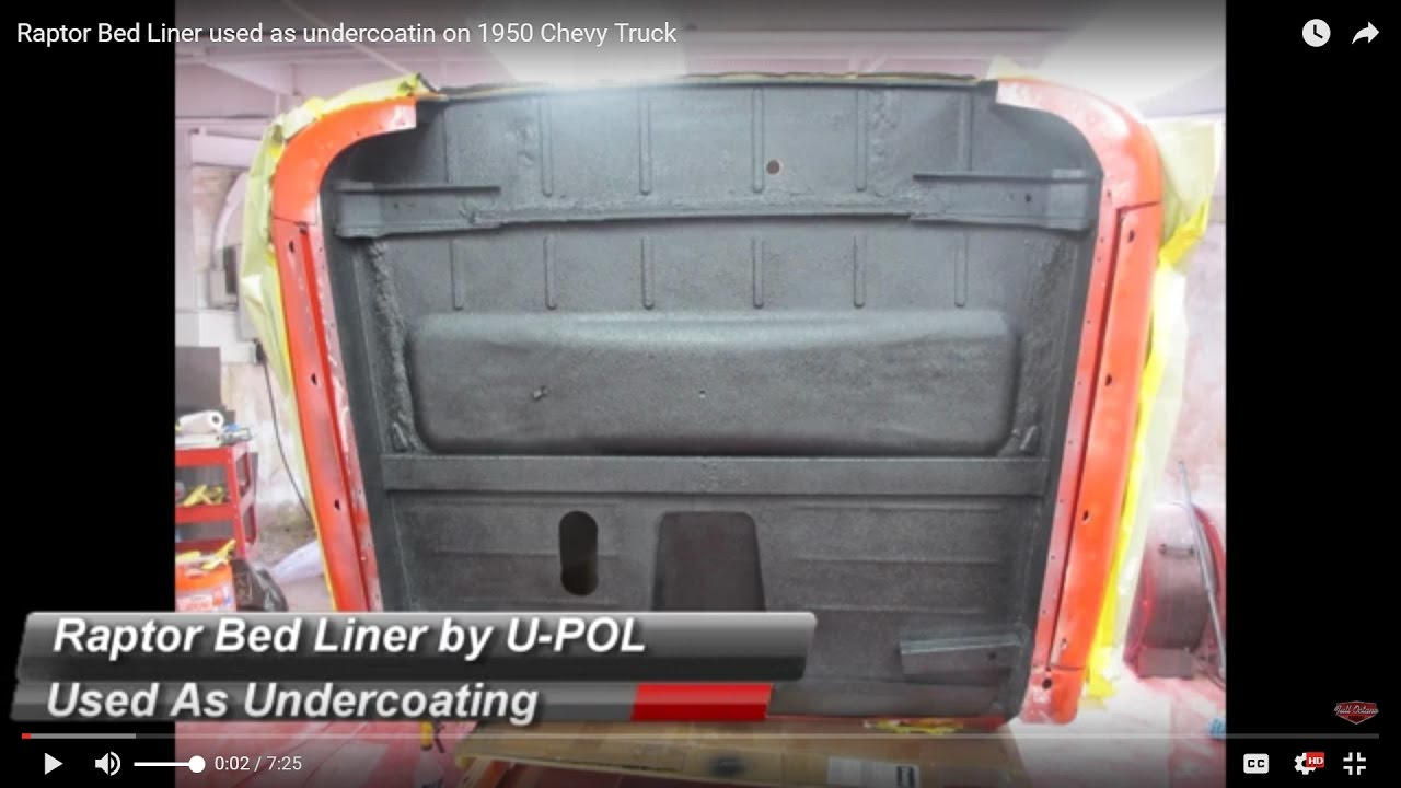 75 Chevy Truck >> Raptor Bed Liner used as undercoating on a 1950 Chevy