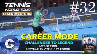 Let's Play Tennis World Tour | Career Mode #32 | THE AUSTRALIAN OPEN | Tennis World Tour Career Mode