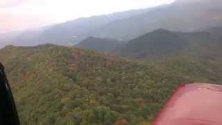 Flight through the Appalachian Mountains